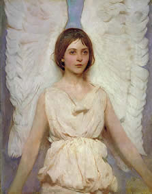 Abbott H. Thayer, Angel, 1887, oil Smithsonian American Art Museum Gift of John Gellatly
