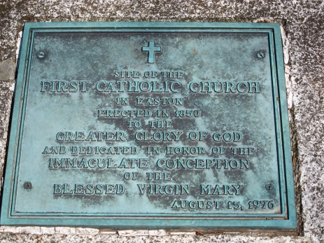 Plaque for Catholic Church