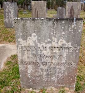 Gravestone of Hannah Gilmore