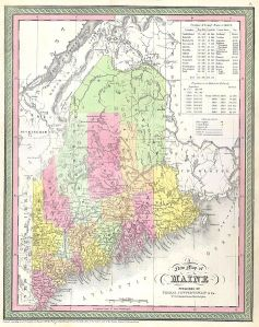 Map of Maine, 1850