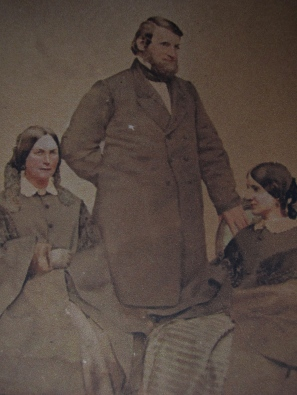Evelina, Oakes and Susan Ames, ca. 1860 Archives at Stonehill College, Easton, Massachusetts