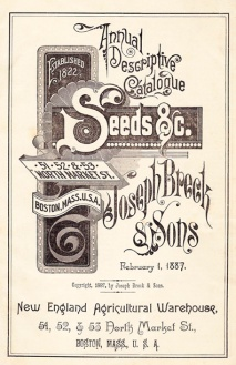 Vintage Ad for 1887 Brecks Seed Catalog (Original)