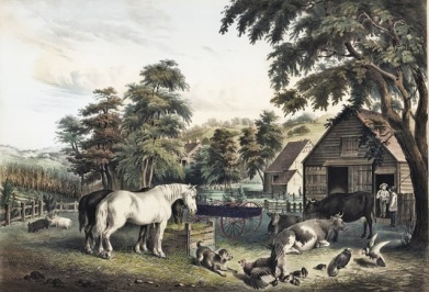 14 Fanny Palmer (American artist, 1812-1876) Published by N Currier American Farm Scenes 3 1853