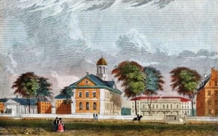 17 Alexander Jackson Davis (American architect, 1803-1892),  Harvard University, Cambridge, Mass. 1850