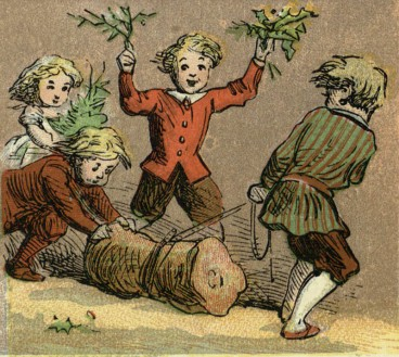 Image from Aunt Louisas Alphabet book - Alphabet og Games and Sports, London, 1870