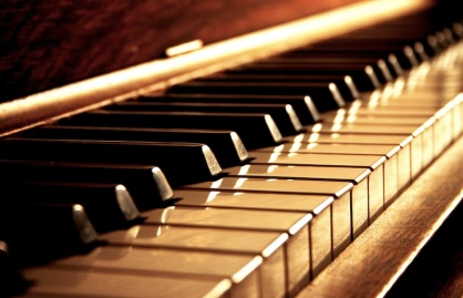 Golden Piano Keys