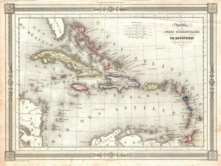 1852_Duvotenay_Map_of_the_West_Indies_-_Geographicus_-_WestIndies-duvotenay-1852